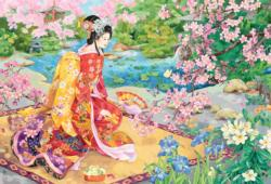 Haru No Uta Asian Art Jigsaw Puzzle