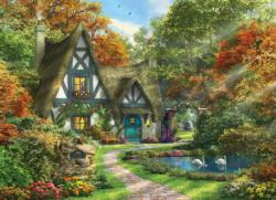 White Swan Cottage Cottage / Cabin Jigsaw Puzzle