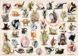 Yoga Kittens Collage Jigsaw Puzzle