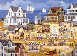 The 4th of July Parade Seascape / Coastal Living Jigsaw Puzzle