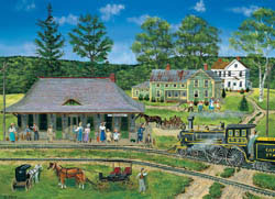 Canaan Station Trains Jigsaw Puzzle