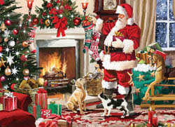 Santa's Best Friend Christmas Jigsaw Puzzle