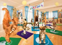 Yoga Studio Dogs Large Piece