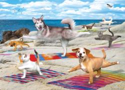 Yoga Beach Dogs Large Piece