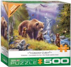 Grizzly Cubs Landscape Jigsaw Puzzle