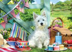 Scottie Dog Picnic Photography Jigsaw Puzzle
