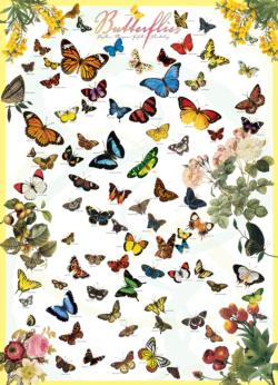 Butterflies Pattern / Assortment Jigsaw Puzzle