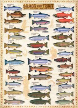 Salmon & Trout Pattern / Assortment Jigsaw Puzzle