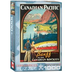 Banff in the Canadian Rockies (Canadian Pacific) Trains Jigsaw Puzzle