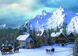 Rocky Mountain Christmas Christmas Jigsaw Puzzle