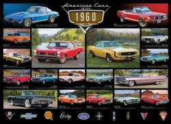 American Cars of the 1960's Collage Jigsaw Puzzle