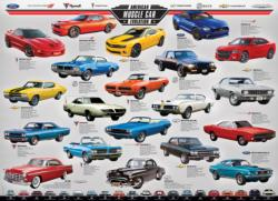 American Muscle Car Evolution Collage Jigsaw Puzzle