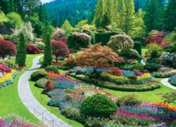 The Butchart Gardens - Sunken Garden Garden Jigsaw Puzzle