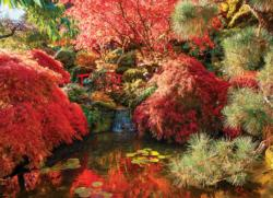 Japanese Garden (The Butchart Gardens) Waterfalls Jigsaw Puzzle
