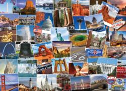 Globetrotter USA Collage Impossible Puzzle