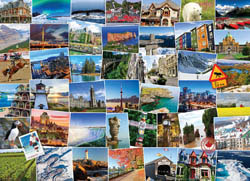 Globetrotter Canada Collage Jigsaw Puzzle