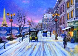 Christmas Eve in Paris Winter Jigsaw Puzzle