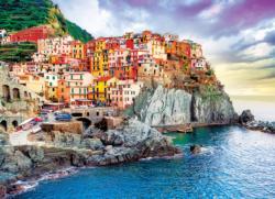 Cinque Terre,Manarola Italy - Mediterranean Oasis Seascape / Coastal Living Jigsaw Puzzle