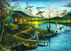 Autumn Retreat Cottage/Cabin Jigsaw Puzzle