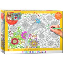 Beautiful Garden (Color-Me Puzzle) Garden Coloring Puzzle