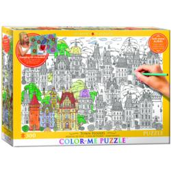 Town Houses (Color-Me Puzzle) Graphics Jigsaw Puzzle