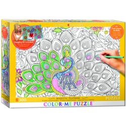 Majestic Feathers (Color-Me Puzzle) Flowers Coloring Puzzle