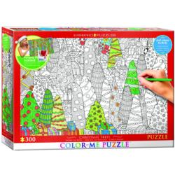 Christmas Trees Christmas Coloring Puzzle