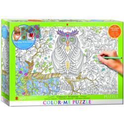 Vibrant Wisdom (Color-Me Puzzle) Forest Jigsaw Puzzle
