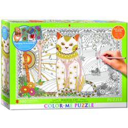 Magic Cat (Color-Me Puzzle) Garden Coloring Puzzle