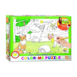 Forest (Color-Me Puzzle) Deer Children's Coloring Books - Pads - or Puzzles