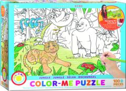 Jungle (Color-Me Puzzle) Jungle Animals Children's Coloring Books - Pads - or Puzzles