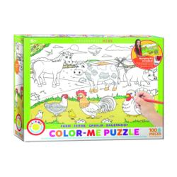 Farm (Color-Me Puzzle) Cows Coloring Puzzle