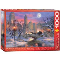 Christmas Eve in New York City Lakes / Rivers / Streams Jigsaw Puzzle