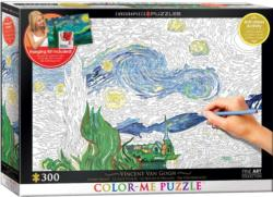 Starry Night Van Gogh Starry Night Coloring Puzzle