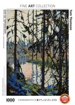 Study for Northern River Landscape Jigsaw Puzzle