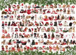 Christmas Puppies Collage Jigsaw Puzzle