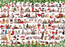 Holiday Cats Collage Jigsaw Puzzle