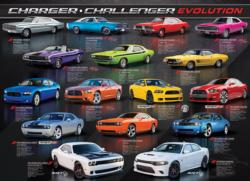 Dodge Charger Challenger Evolution Collage Jigsaw Puzzle