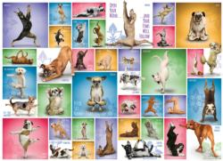 Yoga Dogs Collage Jigsaw Puzzle