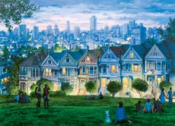 San Francisco The Seven Sisters Skyline / Cityscape Jigsaw Puzzle
