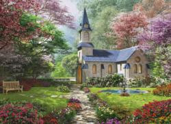Blooming Garden Churches Jigsaw Puzzle
