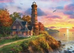 The Old Lighthouse Seascape / Coastal Living Jigsaw Puzzle