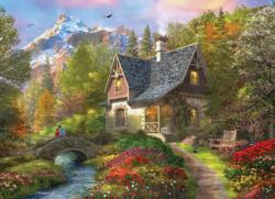 Nordic Morning Cottage / Cabin Jigsaw Puzzle