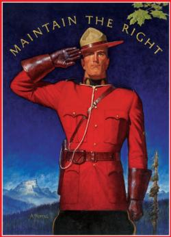 Royal Canadian Mounted Police - Maintain the Right Canada Jigsaw Puzzle
