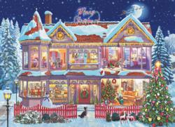 Getting Ready for Christmas Domestic Scene Jigsaw Puzzle