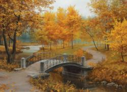 Autumn in an Old Park Fall Jigsaw Puzzle