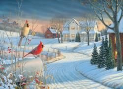 Country Cardinals Winter Jigsaw Puzzle