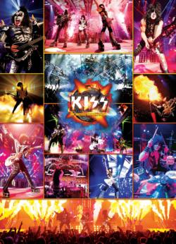 KISS The Hottest Show on Earth Collage Jigsaw Puzzle