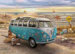 The Love & Hope VW Bus Nostalgic / Retro Jigsaw Puzzle