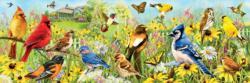 Garden Birds - Greg Giordano Panoramic Birds Panoramic Puzzle